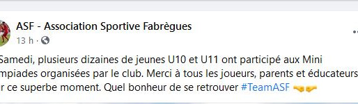 Mini Olympiades AS FABREGUES: