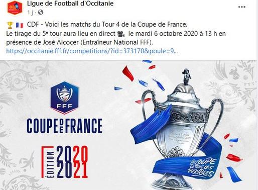 résultat coupe de France 4° tour: