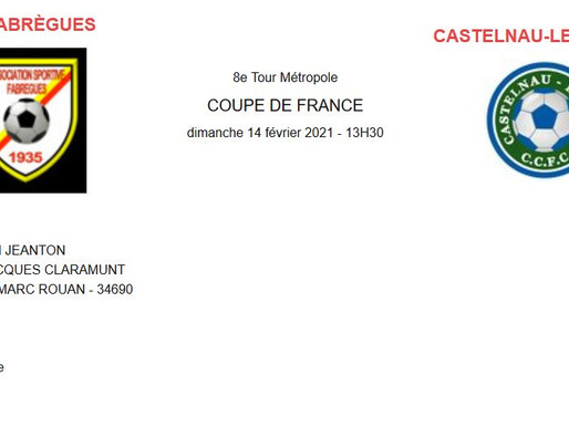 prochain match 8° tour coupe de France: