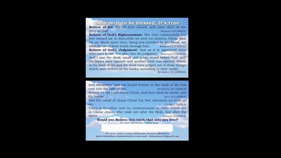Believe - Gospel Tract