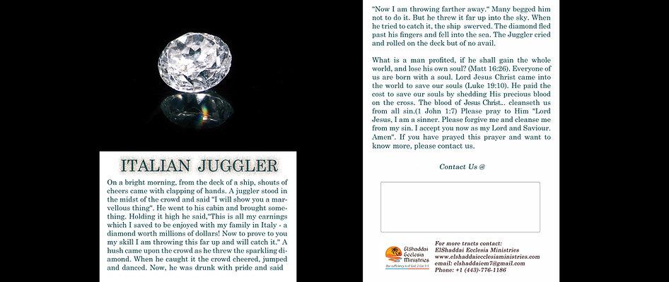 Italian Juggler - Gospel Tract