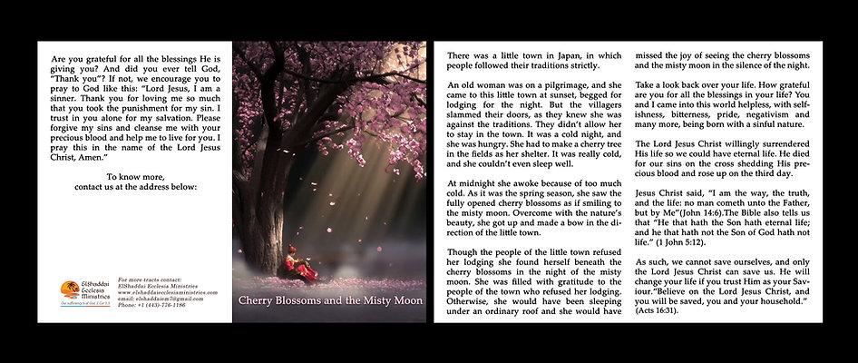 Cherry Blossom & Misty Moon - Gospel Tract