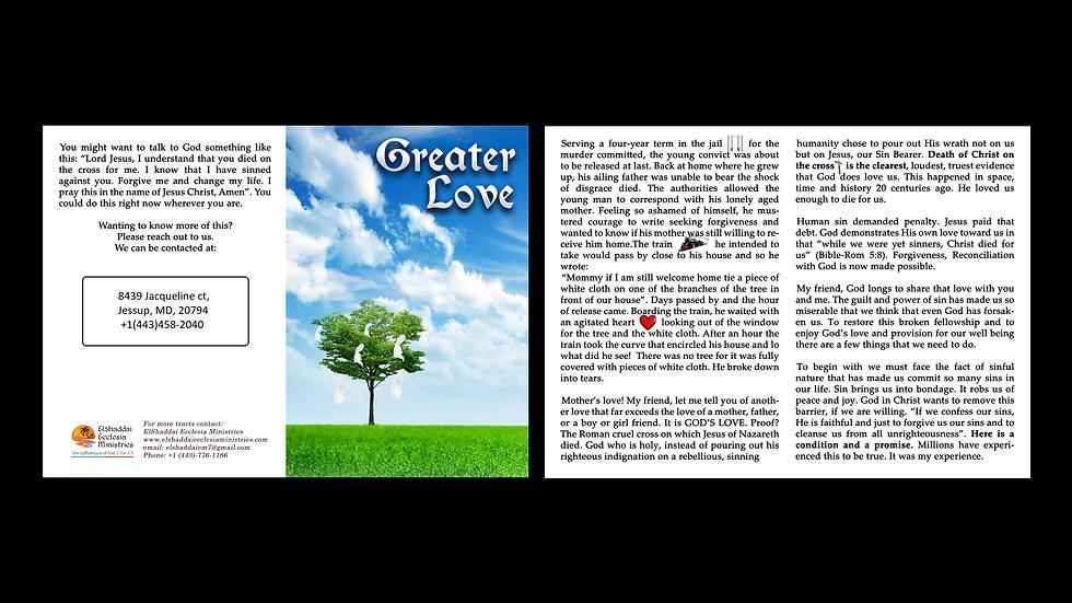 Greater Love - Gospel Tract