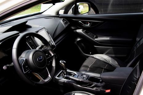 Interior of a Subaru Impreza