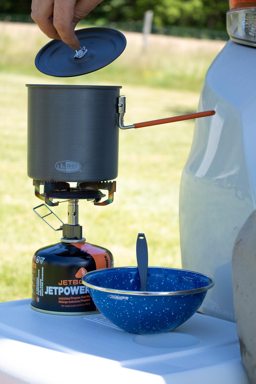 Jet boil pot and burner