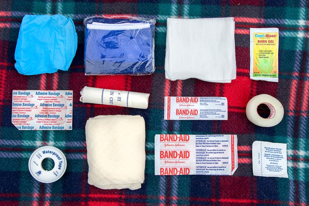 First-aid kit supplies