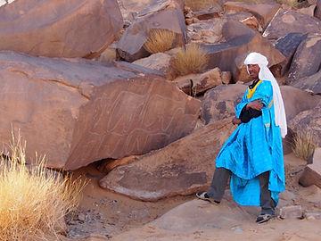 Arte rupstre Sahara Algeria