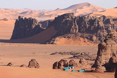 campo tendato Amanar Algeria Tadrart Oriana Dal Bosco