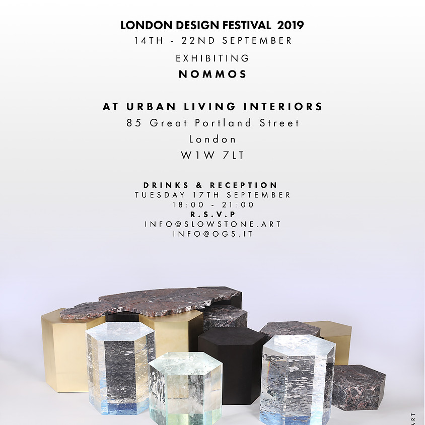 Slow | Stone London Design Festival 2019 Drinks & Reception