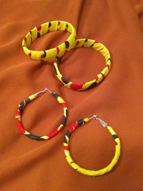 Earring & bracelet set iv