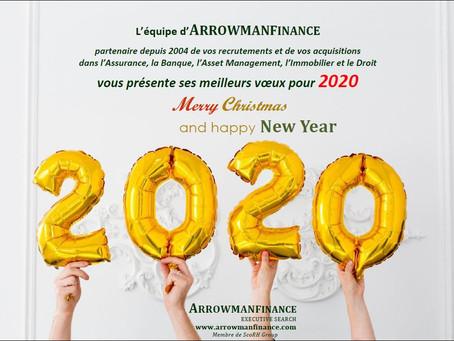 ArrowmanFinance Executive Search vous souhaite une très belle année 2020 !