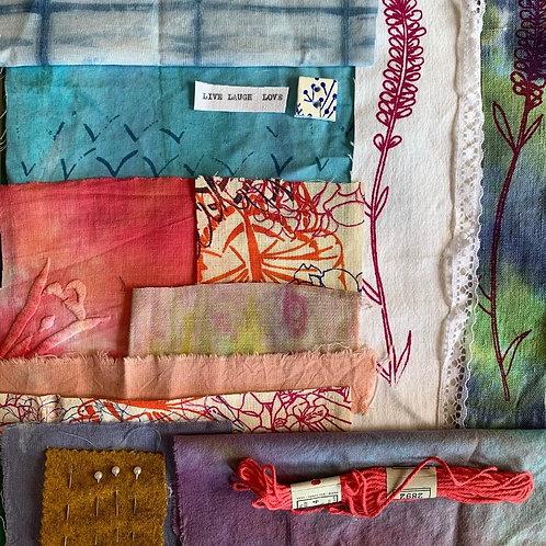 'Lavendar Garden' slow stitch kit