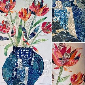 Textile Collage vase of flowers.jpg