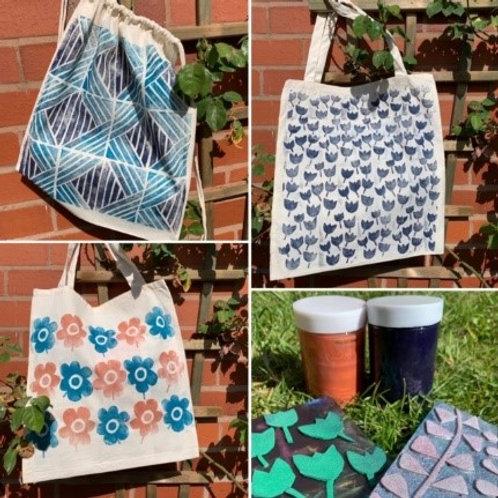 Canvas Bag Block Print Kit