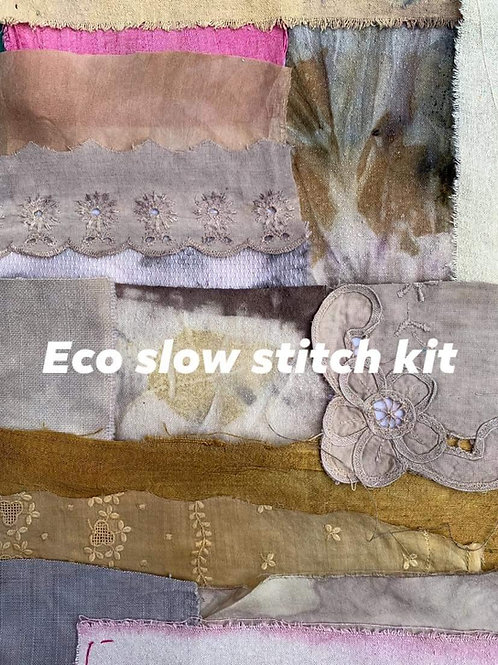 Eco-dyed slow stitch kit