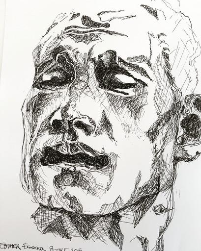 Studie naar beeld van Rodin