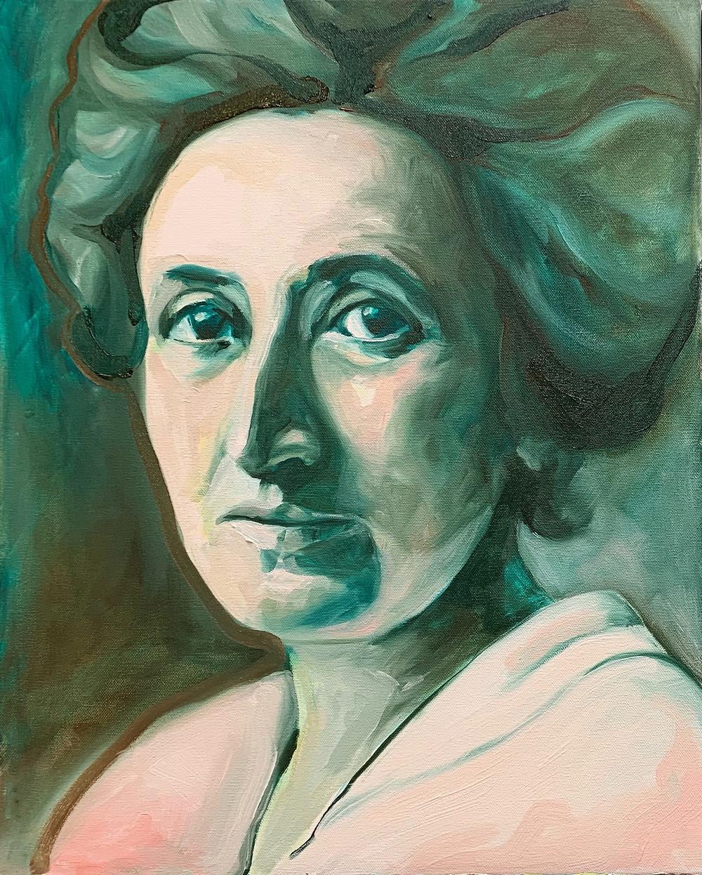 Portret van ROSA LUXEMBURG, filosoof, politiek denker/ activist. 1871-1919