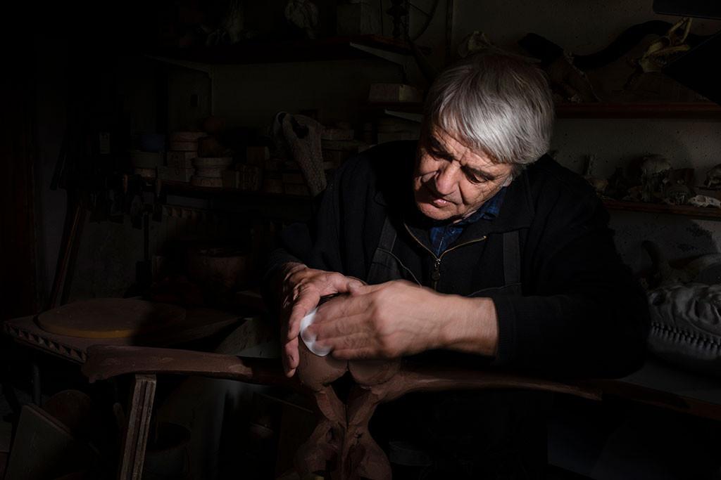 Dominique Bajard, céramiste © Sophie Zénon