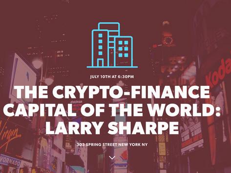Larry Sharpe & Crypto - Startup Cities