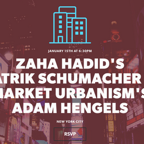 Zaha Hadid's Patrik Schumacher & Market Urbanism's Adam Hengels - Startup Cities