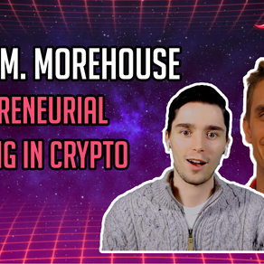 Entrepreneurial Thinking in Crypto - Isaac M. Morehouse - CoinSpice Live: Full Interview