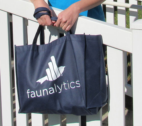 Faunalytics Navy Tote Bag