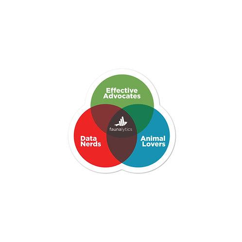 Venn Diagram Die-Cut Stickers
