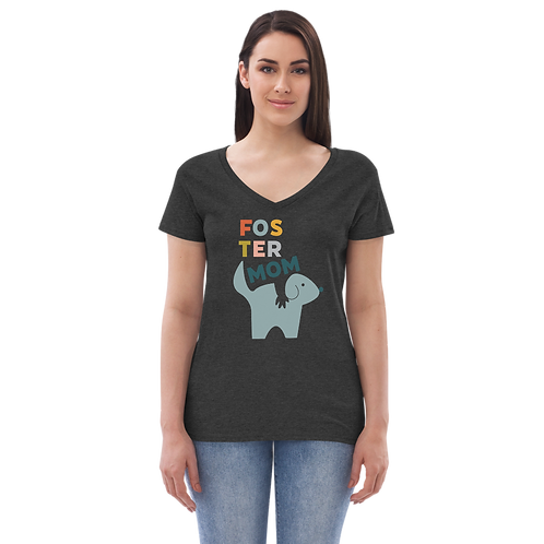 Foster Mom recycled v-neck t-shirt