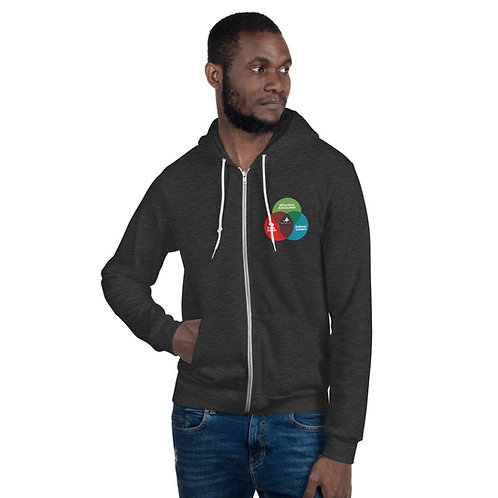 Venn Diagram Zip-Up Hoodie