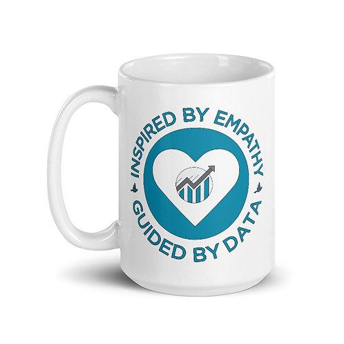 Inspired By Empathy White Glossy Mug