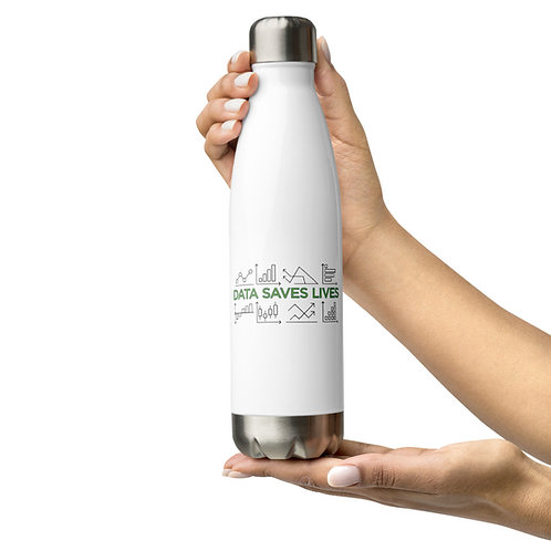 Data Saves Lives — Stainless Steel Water Bottle