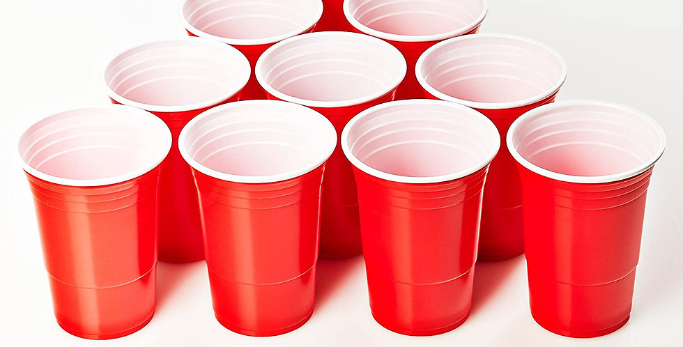 Vasos Beer Pong 600 ml