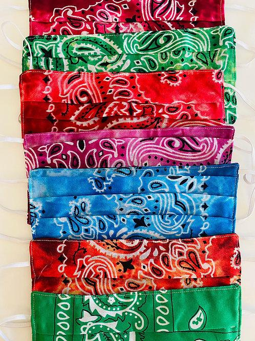 Masque tissu BANDANA (plusieurs couleurs)
