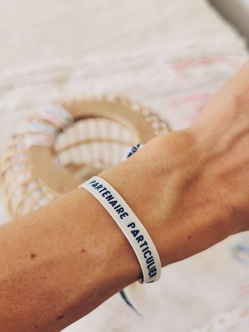 """Bracelet """"PARTENAIRE PARTICULIER"""""""