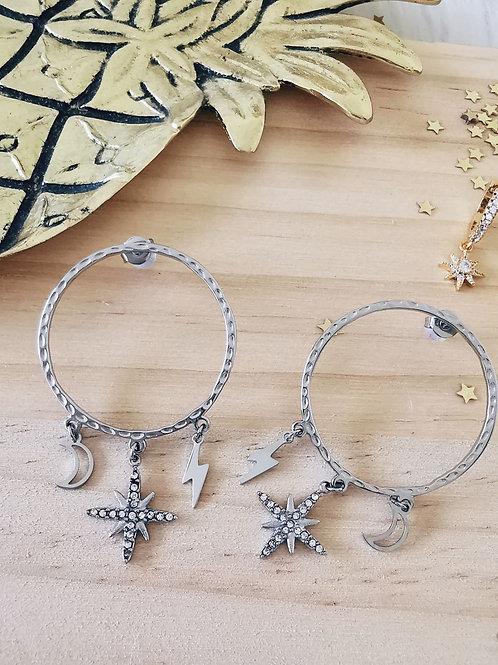 Boucles d'oreilles MAGIC Silver