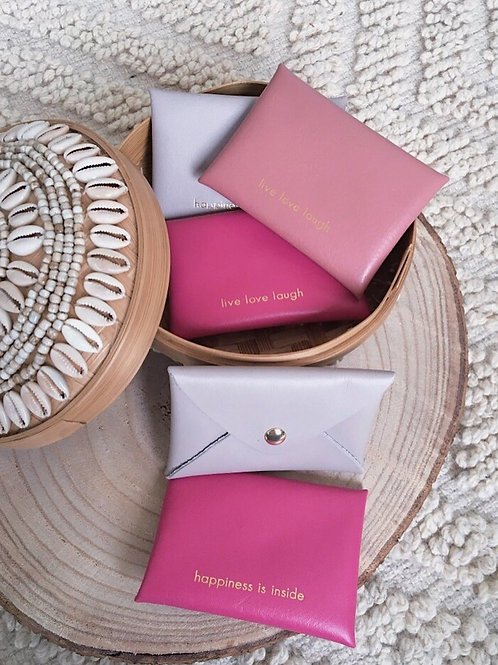 Porte-cartes origami LIVE LOVE LAUGH