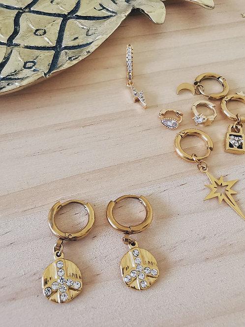 Mini Créoles MEDAILLES GOLD