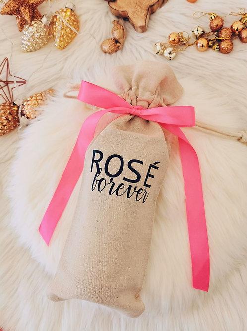 Pochon à bouteille ROSE FOREVER
