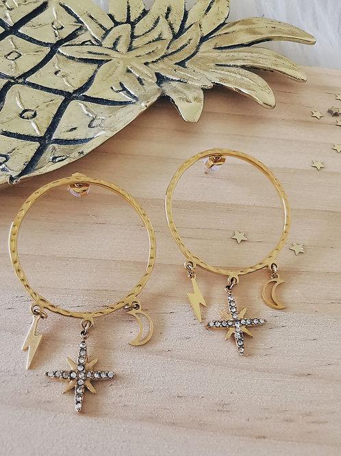 Boucles d'oreilles MAGIC Gold