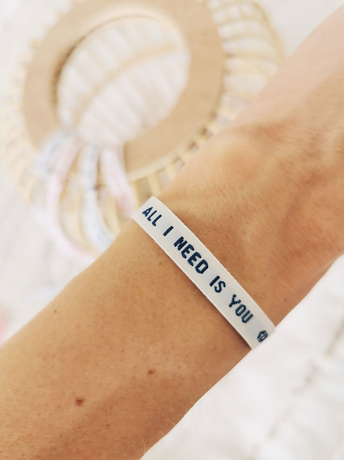"""Bracelet """"ALL I NEED IS YOU"""""""