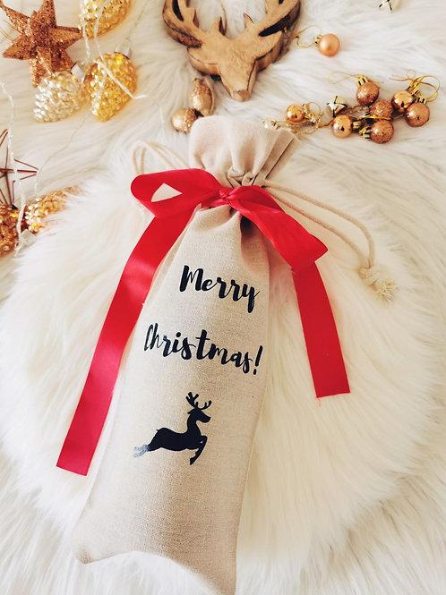 Pochon à bouteille MERRY CHRISTMAS