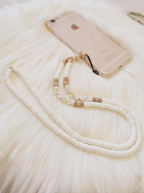 Collier Perles Téléphone SMILE / KISS