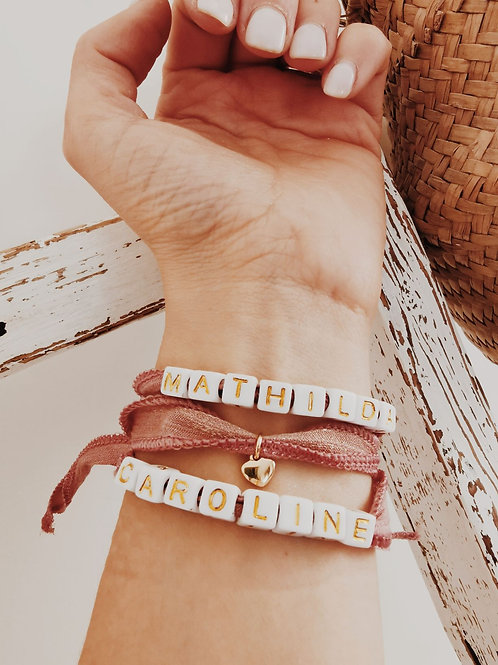 Bracelet RUBAN Message personnalisable
