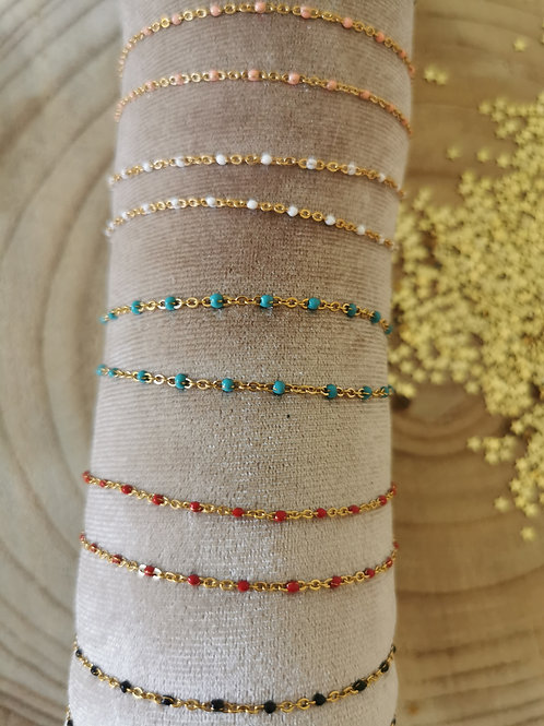 Bracelet CHAINE EMAILLEE