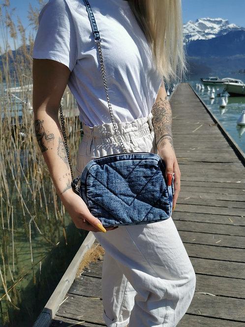 Sac à main jean délavé HARLEM (version bleue)