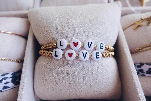 Bracelet perles LOVE