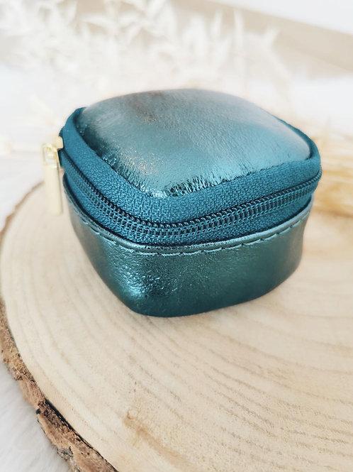 Boîte à bijoux TEDDY (bleu canard)