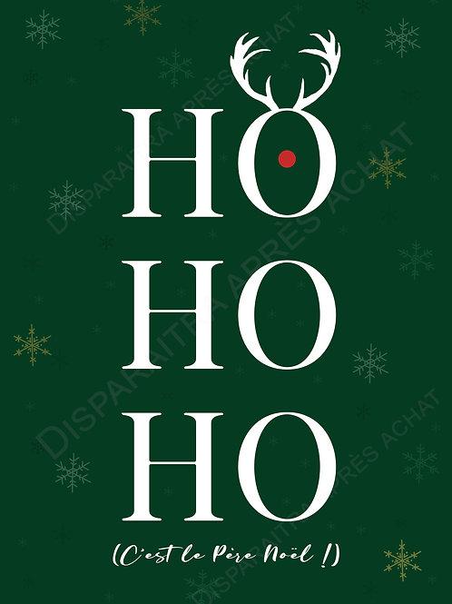 """Affiche Déco. de Noël """"OH OH OH !"""" (affiche prête à imprimer)"""