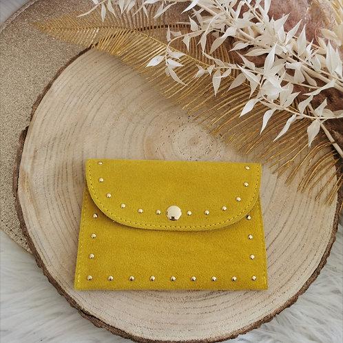 Porte papiers / cartes BRUCE (jaune moutarde)