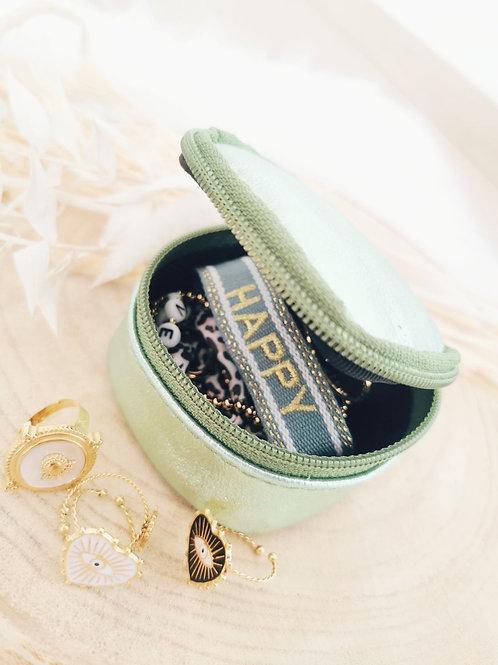 Boîte à bijoux TEDDY (vert d'eau)